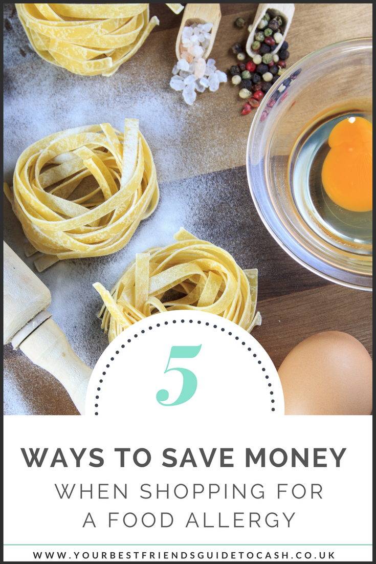 Five ways you can save cash on shopping for a food allergy