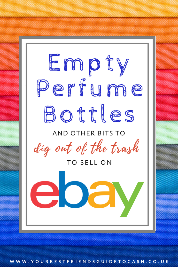 Empty perfume bottles and candle jars – the random bits to dig out of the trash to sell on eBay