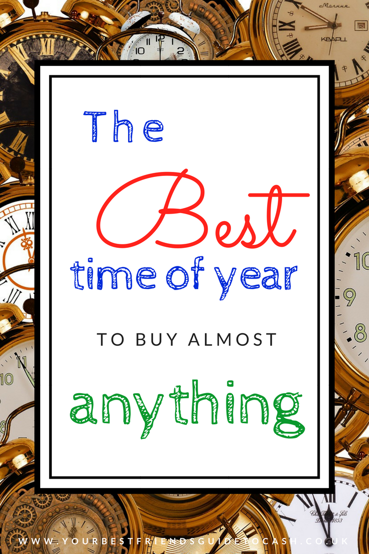 The best time to buy almost anything