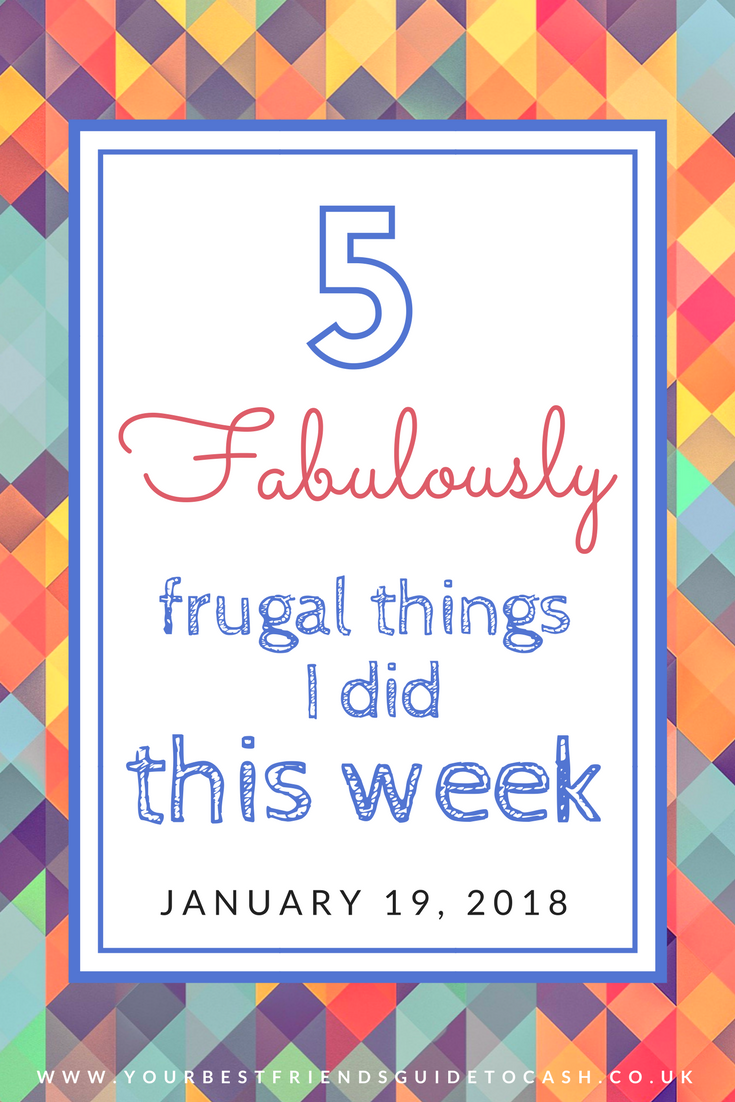 Five frugal things I did this week