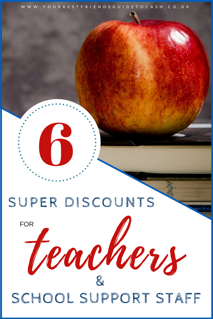 Discounts for teachers and school support staff