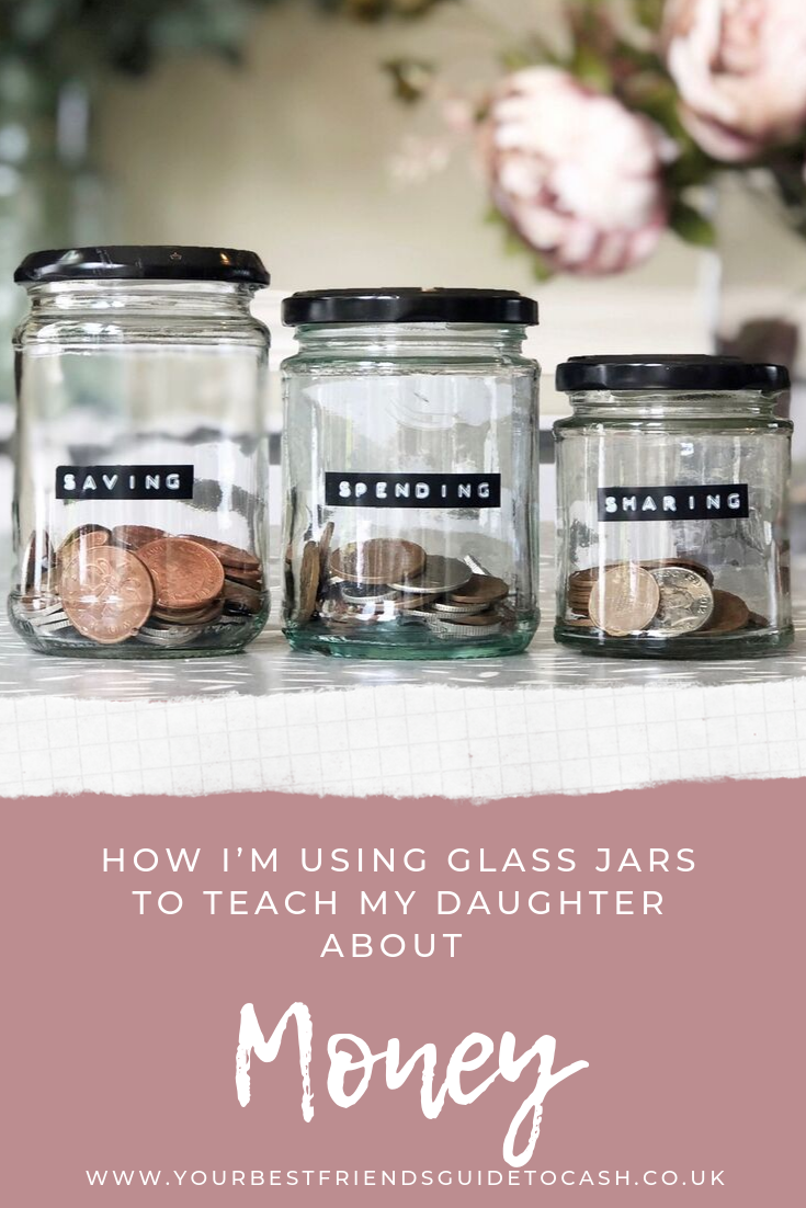 Saving, spending and sharing jars: how I'm teaching my seven year old about money