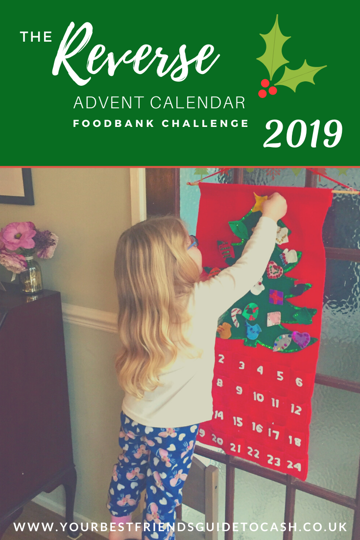 Our Reverse Advent Calendar Food Bank Challenge 2019
