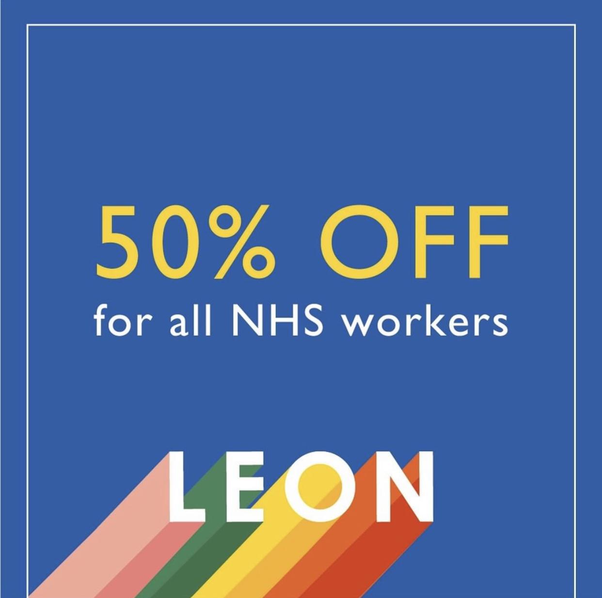 Leon's NHS Discount